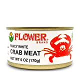 Flower Brand Premium Select Crab Meat Canned Gluten Free Food, High Protein (Pack of 6)