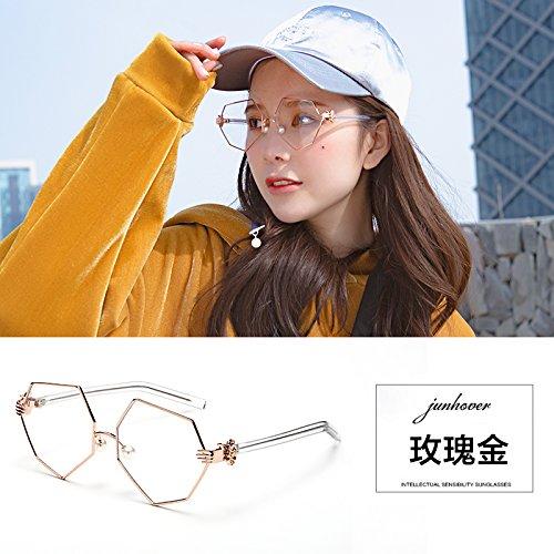 Del poder montura gafas retro mujer coreano
