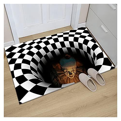 Decorazione di Halloween, 3D Sewer Bolohole Copertura Horror Home Tappeto Trappola Visual Tappeto Visual Soggiorno Camera da Letto Piano Tappetino Decorazione di Halloween (Color : Multi-Colored)