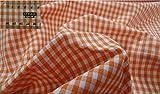 Fabrics-City ORANGE PATCHWORK DRUCK BAUMWOLLSTOFF VICHYKARO