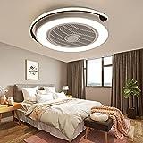 MYYINGBIN Ventilador Techo con Luz Silencioso, 48W Regulable Lámparas de Techo, Ventiladores de Techo con luz LED para Dormitorio, Restaurante, Salón, Oficina