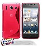 Muzzano F11143 - Funda para Huawei Ascend G510 + 3 protecciónes de pantalla, color rosa