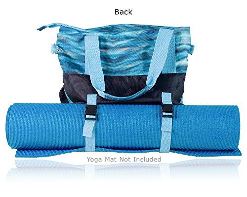 GRSProductsヨガバッグヨガマットバッグヨガトートバッグたくさんのポケット付き内側にパッド入りのタブレットコンパートメント付きS