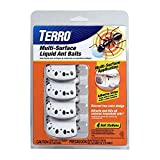 Terro Multi Surface Liquid Ant Baits with Adhesive Strips for Discreet baiting, White