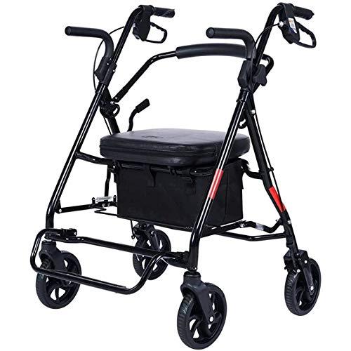 the teapot company Quattro Ruote Pieghevole Mobilità Trolley, Anziani Alimentari Carrello, Anziani Roller Walker può Caricare 220 lbs