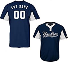 New York Yankees Blank or Custom Back 2-Button Cool-Base Jersey