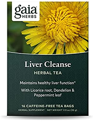 Gaia Herbs Liver Cleanse Herbal Tea - Supports Liver Health & Detoxification, with Schisandra for Antioxidant Support, 16 Tea Bags (packaging may vary) by Inventory Management Services- Hpc