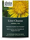 Gaia Herbs Liver Cleanse Herbal Tea - Supports Liver Health & Detoxification, with Schisandra for Antioxidant Support, 16 Tea Bags (packaging may vary)