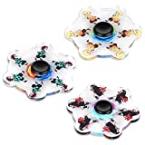 HoneyAKE Running Fidget Spinner Toy,Ultra Durable Plastic Bearing High Speed Spins Precision Hand Spinner, Anxiety Stress Relief Animated Spinner for Adult and Kids