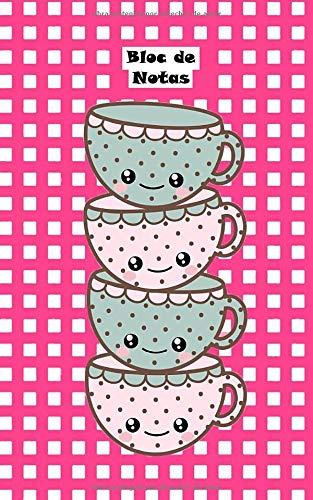 Bloc de Notas: Lindas tazas de té, kawaii Cuaderno Notas Infantil Papelería...