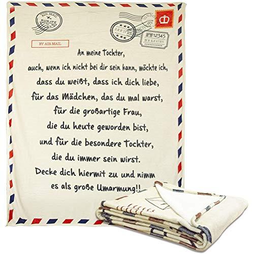 VIVILIAN Deutsche Buchstaben Decke zu Meinem Sohn und Meine Tochter außergewöhnlich Glatte Decke Flanell Decke Winter Hitze zarte Mail Decke