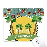 ブラジルカーニバルを祝うパーム ゲーム用スライドゴムのマウスパッドクリスマス