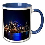 White ceramic mug with blue interior and handle Image printed on both sides Available in 11oz only Microwave safe, hand-wash to preserve image High gloss finish