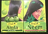 Hesh Neem (1 confezione) 100 grammi e Amla 1 pacchetto) 100 grammi polvere ayurvedica per cura e rafforzamento dei capelli
