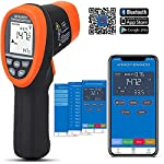 BTMETER BT-985CAPP 12:1 Digital Infrared Thermometer with Bluetooth Temp -58?~1472? Non Contact IR Temperature Gun Tester with Backlit for Kitchen Food Cooking HVAC Automotive(NOT for Human Temp)