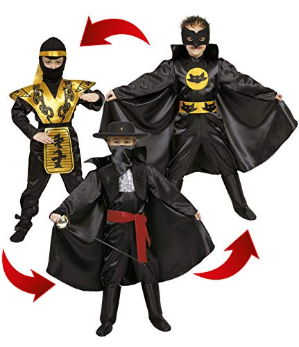 Ciao – Helden Action 3-in-1 kostuum voor kinderen, 8 – 10 jaar