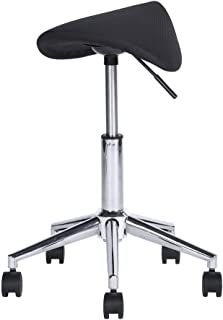 Aingoo Saddle Stool, Spa Stool Height Adjustable Hydraulic Swivel Massage Chair with Wheels