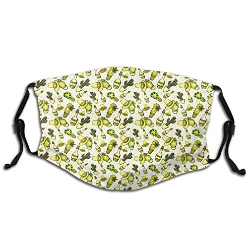 Bandana lavable de tela para adultos y niños con filtro de temática con sombrero
