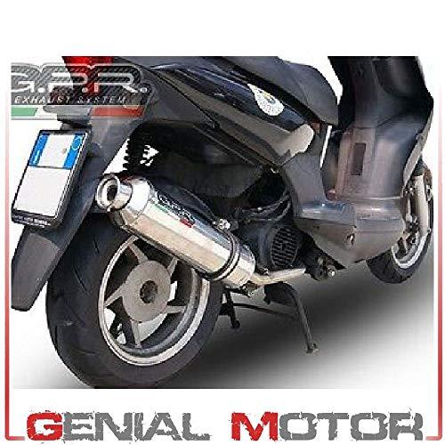 GPR EXHAUST SYSTEM SCOM.104.1.4RT Impianto Completo Omologato Scooter Compatibile con MALAGUTI MADISON 150 1999/06 4Road Round
