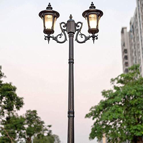 Lampione stradale da esterno Lampione a colonna in alluminio antipioggia a palo alto Victoria Waterproof Ip55 Villa Paletto Lampada a colonna in vetro Decorazione E27 Parco Cortile Portico Giardino Pr