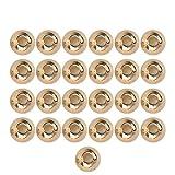 Perlas de tungsteno Doradas, 25 Unidades, 2,0-4,6 mm, Ranuras para agarrar Moscas Moscas Que unen Las Perlas de tungsteno y Moscas Que unen los Materiales, 2.8MM