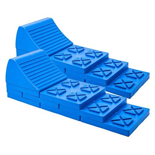 Multifunktions-Keil, Auffahr-Keil 2er Set - bis 5000 kg für Wohnwagen oder Wohnmobil