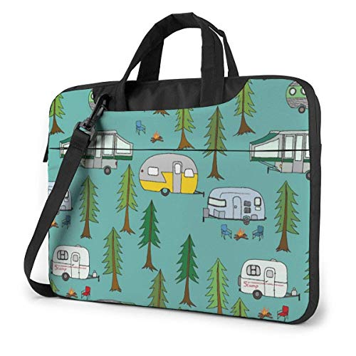 Laptop Shoulder Bag Carrying Laptop Case, Camp in The Park Computer Sleeve Cover, Business Briefcase Protective Bag