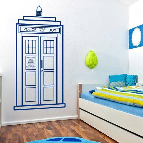 Ik2245 Wall Decal Sticker Time Machine Spaceship Tardis Doctor Who Living Children's Bedroom