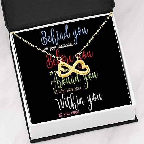 Express Your Love Gifts Inspirational Necklace - Collar de acero inoxidable para el mejor amigo familiar