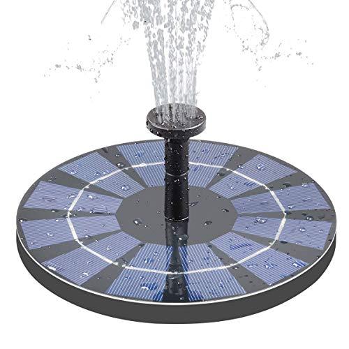 Moligh doll Solar Brunnen mit Batterie Backup 2,5 W Vogelbad Brunnen Freistehende Solar Betriebene Brunnen für Vogelbad Teich Pool Garten Aquarium