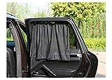 Dasing 4 cortinas de 75 x 50 cm para ventanas laterales de coche, color negro,...
