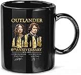 NA #Outlander 6th Anniversary 2014-2020 Cast Tazas de cerámica firmadas Tazas