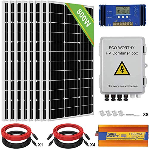 ECO-WORTHY 800W 24V Solar Panel Off Grid...