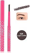 Waterproof Permanent Powder Pen Makeup Eyebrow Pencil Powder Color Cosmetic Black Brown Eye Brow Liner Shaper Eyebrow Makeup Light coffee