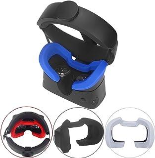 Esimen Silicone Mask Pad & Face Cover for Oculus Rift S Standard Facial Pad, Reusable Sweatproof Lightproof (Blue)