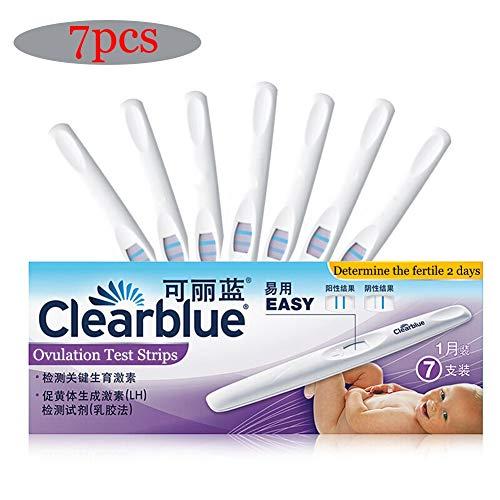 Pruebas de Ovulación, 7 Palos x Test de ovulación, Palillos de Fertilidad de Prueba Predictor Sensible, Lleno de Aluminio Independiente Bolsas
