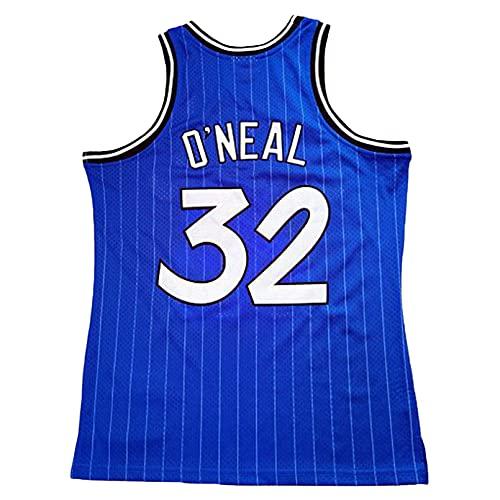 GAOJR Camiseta De Baloncesto Magic #32 Oneal Sports Chaleco Camiseta Sin Mangas para La Capacitación En Competencia Corriendo (Azul)