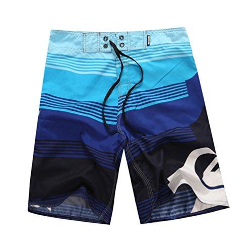 YOUJIA Bañador Natacion Casual Loose Pantalones Cortos Shorts para Hombre Azul M