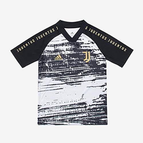 Juventus Maglia Pre-Partita Stagione 2020/2021 - Bambino - 100% Originale - 100% Prodotto Ufficiale -Scegli la Taglia (Taglia 11-12 Anni)