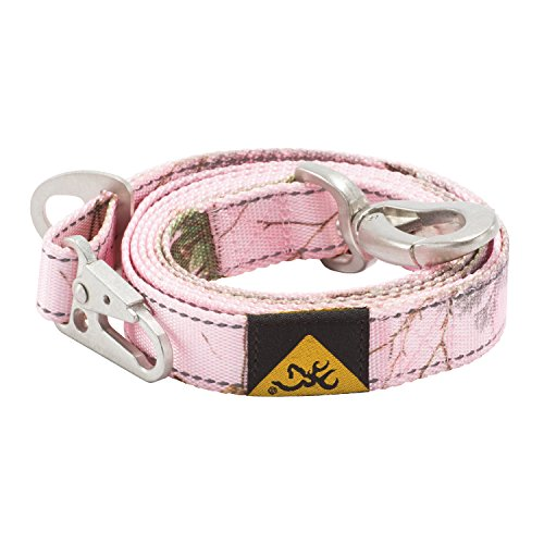 Browning Classic Camo Dog Leash, Realtree Xtra Pink, 6ft X 1in