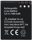Rollei Akku Actioncam 560 & 550 Touch - Lithium-Ionen-Akku (3,8 V / 1100 mAh) - Schwarz -