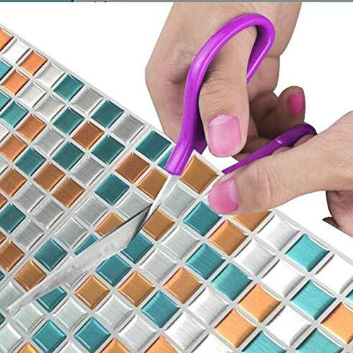 PMSMT 2020 Nueva Tendencia 3D Mosaico de Vinilo Cuadrado Pegatinas de Azulejos de Pared azulejo Impermeable imitación de ladrillo Autoadhesivo Papel Tapiz Pegatinas