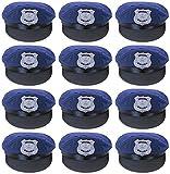 Das Kostümland Kinder Special Police Mütze zum Polizisten Polizei Kostüm - 12er-Set