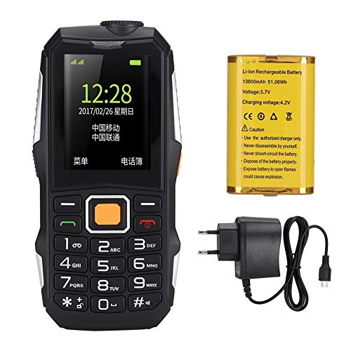 Yunseity Teléfono móvil para Personas Mayores U001, teléfono móvil para Personas Mayores con Doble SIM y Doble Modo de Espera, 110-240 V, adopta un Nivel de Sonido de Altavoz súper Grande(EU)