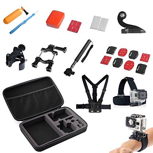 13 en 1 Juego de accesorios para GoPro Hero 2 3 4 Negro Plata