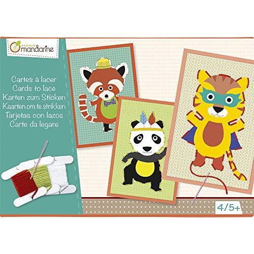 Avenue Mandarine KC023O Kreativset (mit 8 Stickbildern, 10x15 cm, 250g, geeignet für Kinder ab 4 Jahren, Tiere)