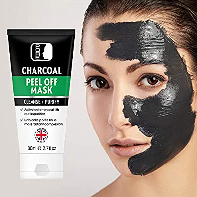 PORE Activated Bamboo Charcoal Black Vacuum Peel Off Face Mask, 1 x 80ml Tube, Blackhead Removal, UK Supplier & Warehouse, Deep Cleansing, Purifying, Removes stubborn dirt and oil, STRONG