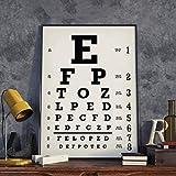 OftalmóLogo OptometríA Vintage Cuadro De Ojos Impresiones De Arte ClíNica De OftalmologíA Cuadro De Ojos Cuadro De Lienzo Pintura Mural DecoracióN De Oficina-60x80cm Sin Marco