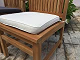 Sustainable Furniture Large seat pad <span class='highlight'>garden</span> cushions - PACK OF TWO (Natural) Showerproof <span class='highlight'>Chair</span>, Cream