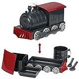 KidsFunwares Kindergeschirr-Set mit Utensilien Grauer/roter Zug 9.5x5x5 rot
